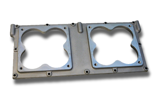 Dual 4500 Carb Top Plate for Pro-Filer Tunnel Ram Intake Manifolds
