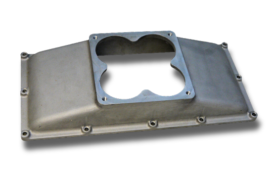Single 4500 Carb Top Plate for Pro-Filer Tunnel Ram Intake Manifolds